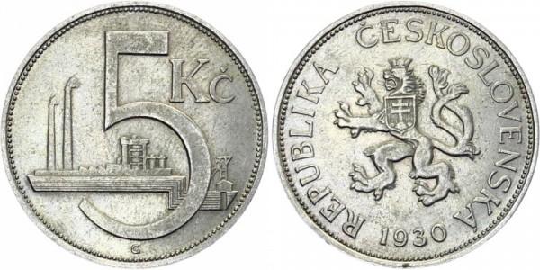 Tschechei 5 Kč 1928-1932 - Kursmünze