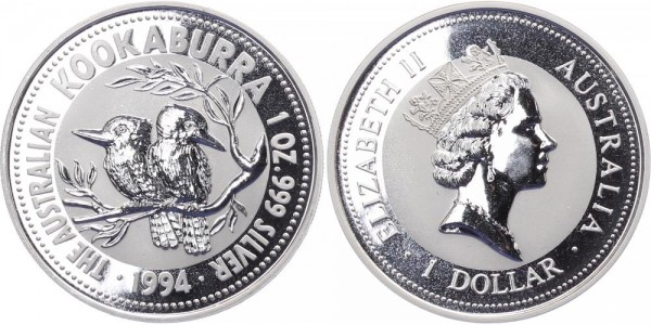 Australien 1 Dollar 1994 - Kookaburra