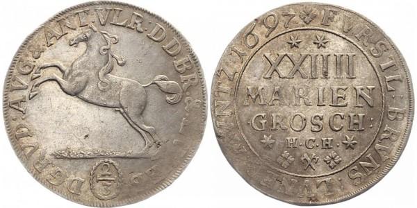 Braunschweig 2/3 Thaler 1697 - 24 Mariengroschen
