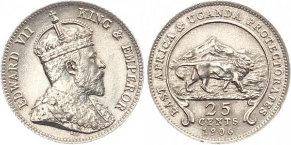 Britisch Ost-Afrika 25 Cents 1906 - Edward VII.