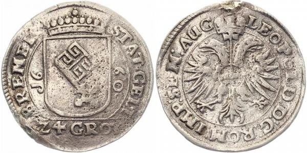 Bremen 24 Grot 1660 - Leopold I.