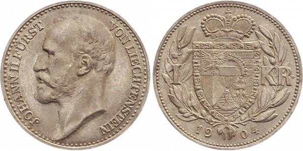 Liechtenstein 1 Krone 1904 - Johann II.