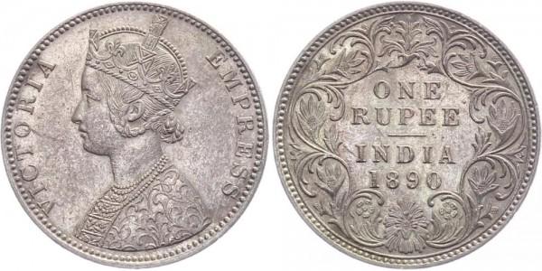 Britisch-Indien 1 Rupie 1890 - Victoria