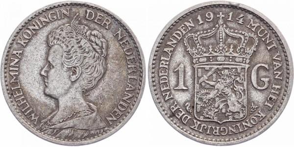 Niederlanden 1 Gulden 1914 - Wilhelmina