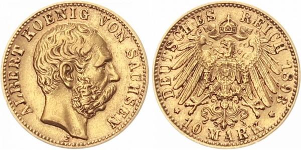 Sachsen 10 Mark 1893 E Albert