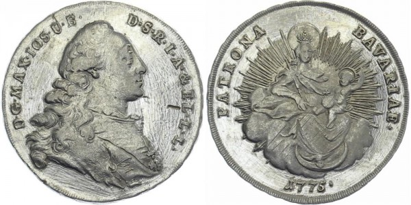 BAYERN 1/2 Konventionstaler 1775 - Kursmünze