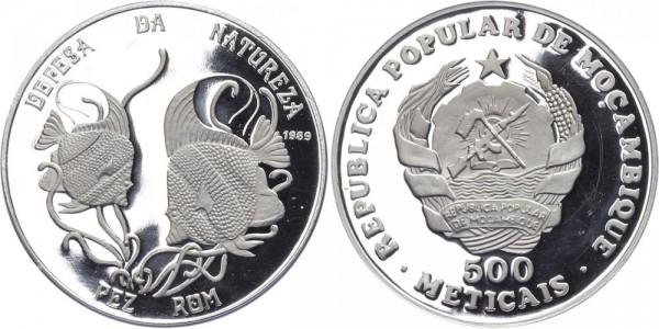 Mosambik 500 Meticais 1989 - Naturschutz