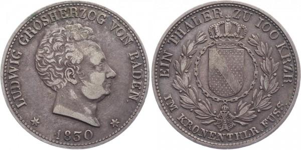 Baden Taler, 100 Kreuzer 1830 - Ludwig