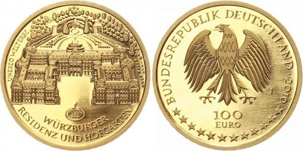 """Deutschland 100 Euro 2010 - Würzburger Residenz """"J"""""""