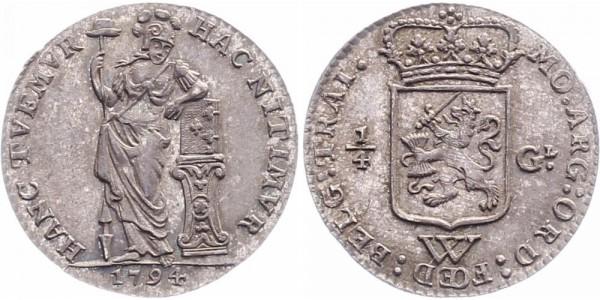 Niederländisch Westindien ¼ Gulden 1794