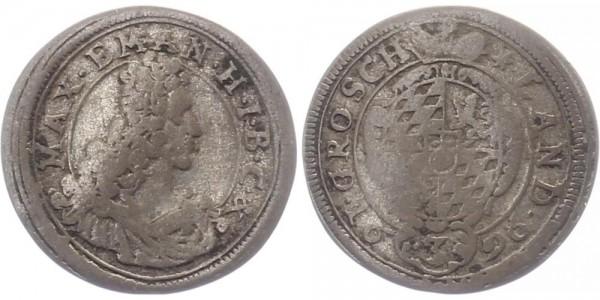 Bayern 1 Groschen 1696 - Maximilian II. Emanuel