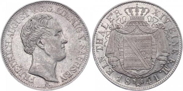 Sachsen 1 Thaler 1841 - Friedrich August
