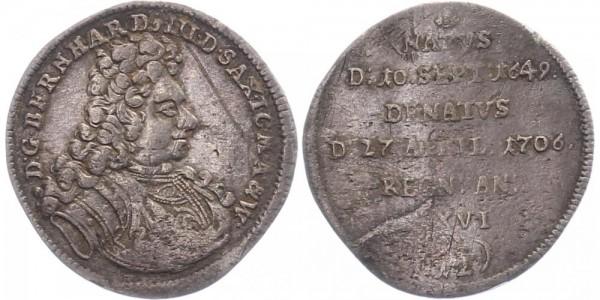 Sachsen-Meiningen 1/12 Taler 1706 - Bernhard III.