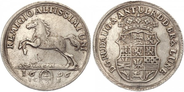 Braunschweig 2/3 Thaler 1696 - Pferd