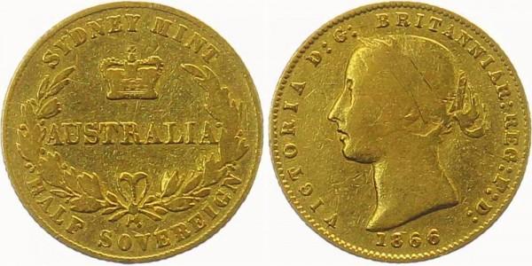 Australien 1/2 Sovereign 1866 - Queen Victoria