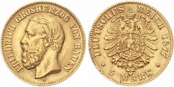 Baden 5 Mark 1877 - Friedrich I.