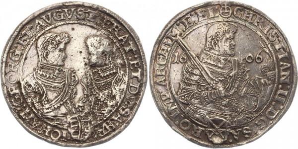 Sachsen 1 Thaler 1606 - Christian II., Johann Georg I. und August