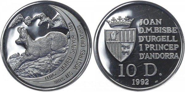 Andorra 10 Diners 1992 - Gämse