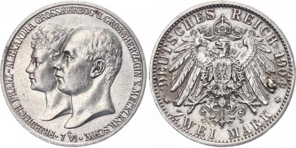 Mecklenburg-Schwerin 2 Mark 1904 A Friedrich Franz IV